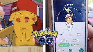 ¡CAPTURO PIKACHU con GORRA de ASH y hago su EVOLUCIÓN a RAICHU en Pokémon GO! [Keibron]