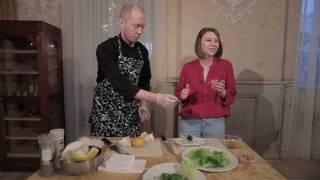 Легкий Ужин. Ресторан Купеческий. Виктор Смирнов. Салат с помело.