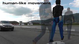 Auto industry develops articulated pedestrian dummy