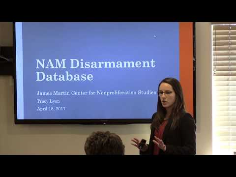 The Non-Aligned Movement Disarmament Database at CNS: Current Research and Future Initiatives