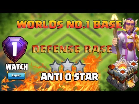 SUPER ! World'S Number 1 Base | TH11 Best Trophy Push Base See Proof With Reply Anti 0 Star