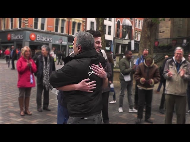 Street Evangelist witnesses to a gay person