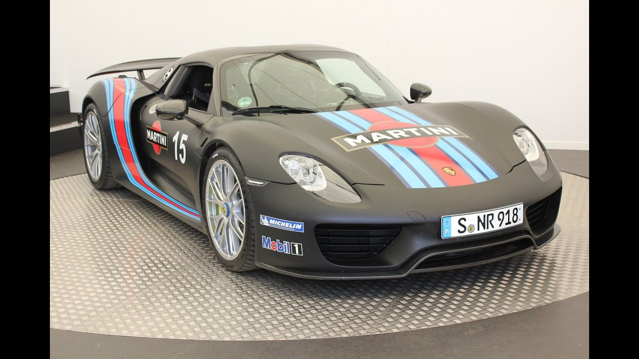 porsche 918 spyder martini livery at goodwood fos youtube. Black Bedroom Furniture Sets. Home Design Ideas