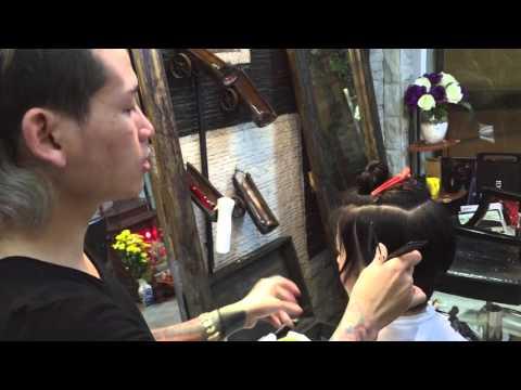 Hair bar Tuấn còi : p3 dạy cắt đầu bob mi vân