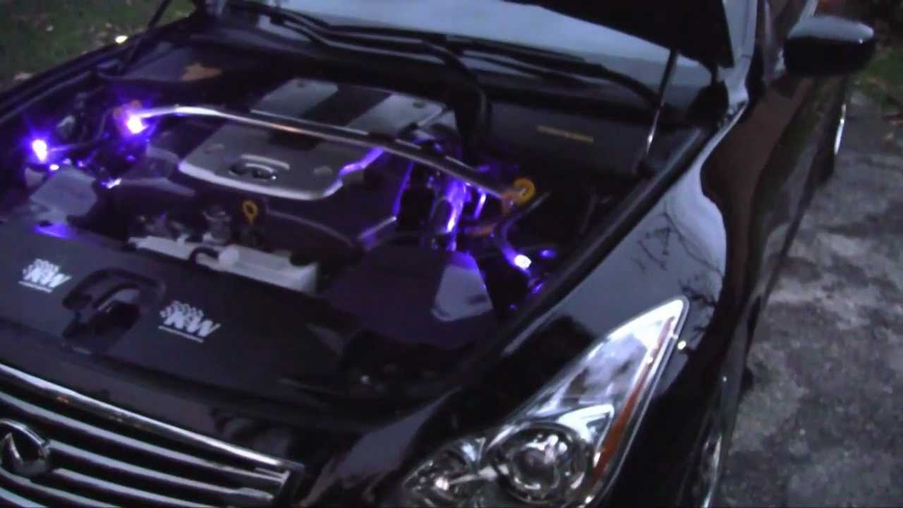 & Custom Under Hood LED Lighting Infiniti G37 - YouTube azcodes.com