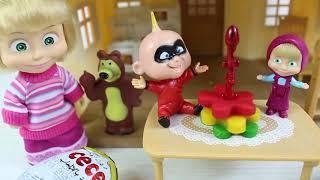 Masha Arkadaşına Sürpriz Doğum Günü Partisi Hazırlıyor Eğlenceli Videolar Çizgi Filmler
