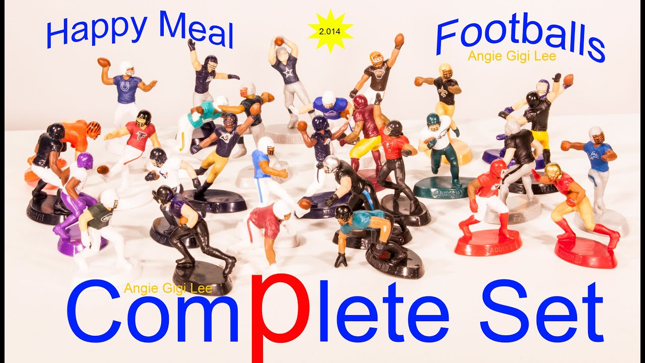 McDonald s Happpy Meal NFL Football plete Set