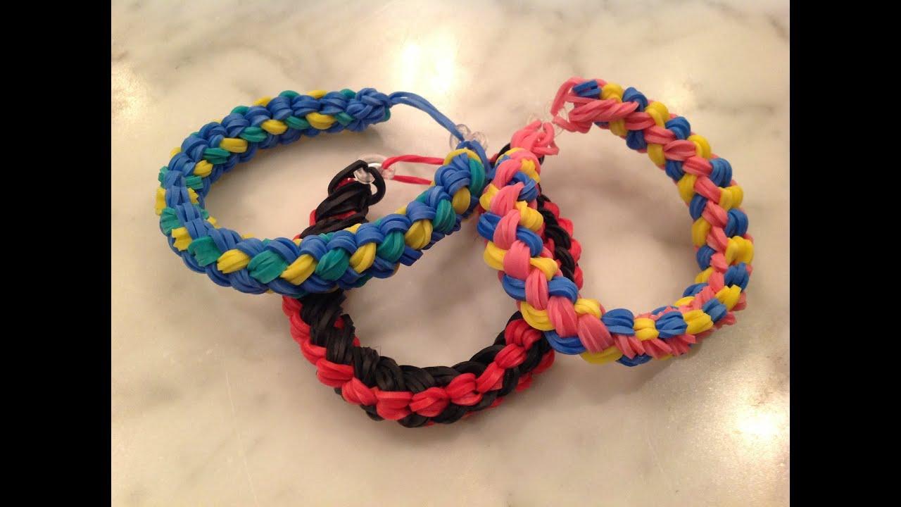 Double Braid Rainbow Loom Bracelet Advanced