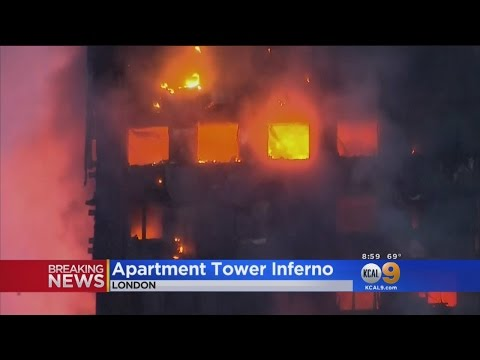 Fire Burning 27-Story London Apartment Building