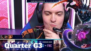 TES vs FNC - Game 3 | Quarter Finals S10 LoL Worlds 2020 PlayOffs | Top Esports vs Fnatic G3 full