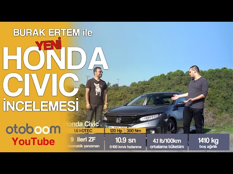 Burak Ertem Ile 2019 - HONDA CIVIC Executive Plus 1.6 D-Tech AT9 İncelemesi I Otoboom.com