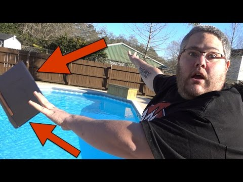 I DROPPED MY LAPTOP IN THE POOL!!