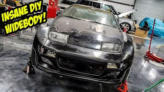 Installing An INSANE DIY WIDEBODY Kit On Our Ugly Nissan 300ZX (EARL LEEKER IS BACK!)