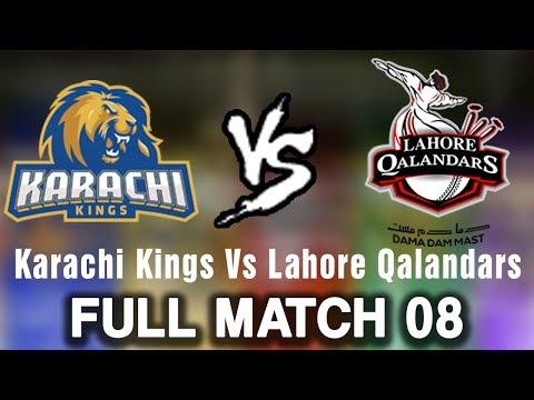 Full Match   Karachi Kings Vs Lahore Qalandars   Match 8   26 February   HBL PSL 2018   PSL thumbnail