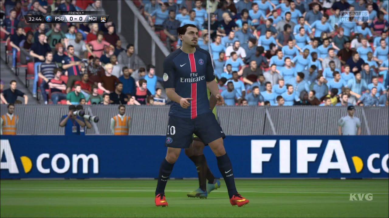 FIFA 16 - UEFA Champions League - PSG vs Manchester City ...