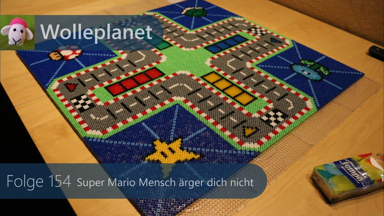 pearler bead super mario mensch rger dich nicht zeitraffer youtube. Black Bedroom Furniture Sets. Home Design Ideas