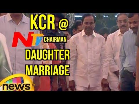 CM KCR Attends NTV Chairman Narendra Choudary's Daughter Rachana Marriage | Shamshabad | Mango News