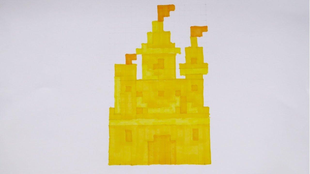 Comment Dessiner Un Château De Sable Pixel Art