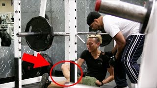 BREAKING BONES AT THE GYM PRANK!! (GYM FAILS)