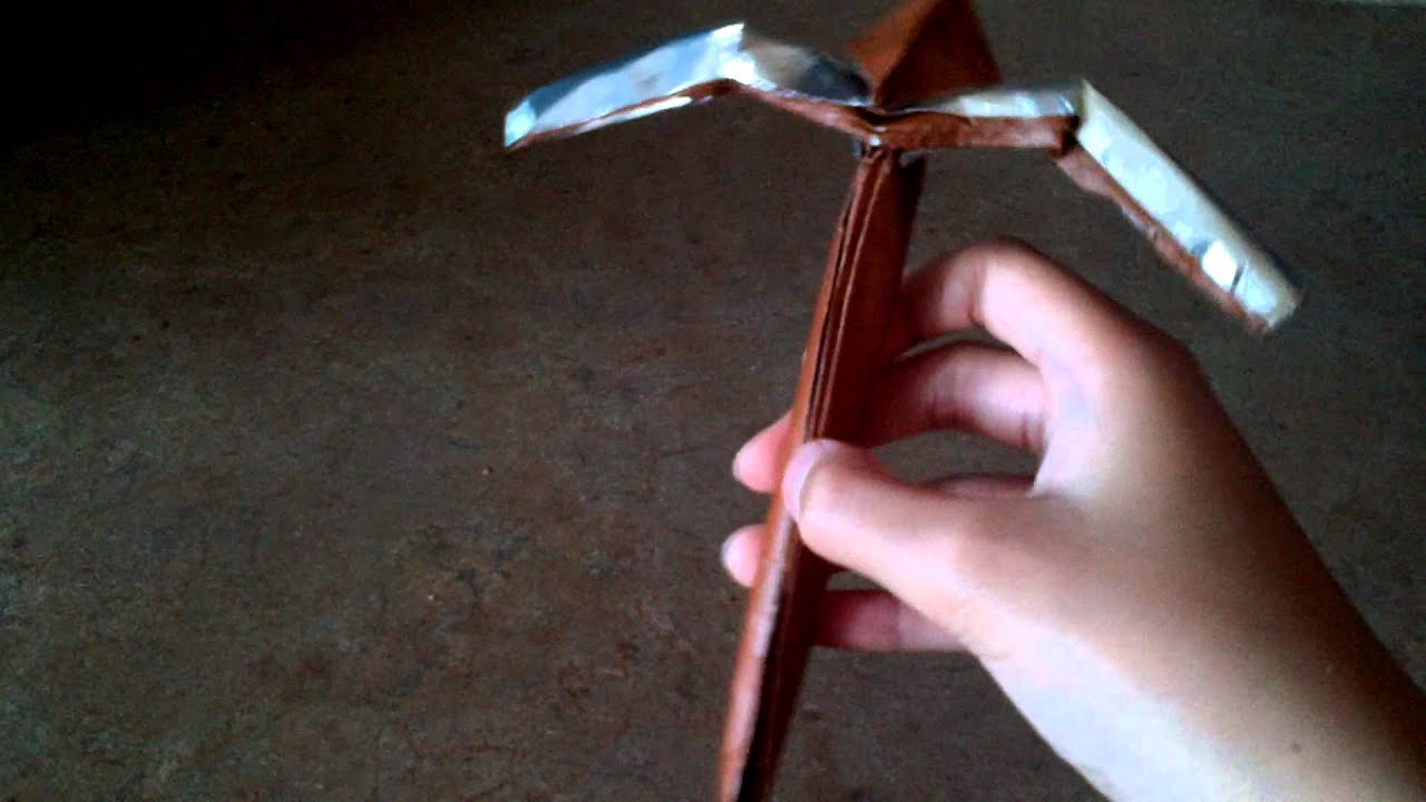 origami pickaxe jeremy shafer youtube