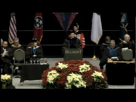 Belmont University Winter 2012 Commencement