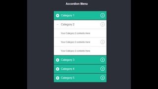 Simple Accordion Menu Section for FAQ Page (2018) | Using
