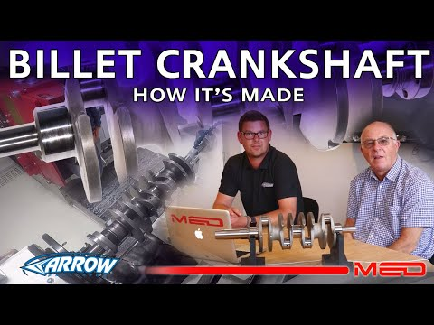 How it's made - MED/Arrow steel competition crankshaft - part 1
