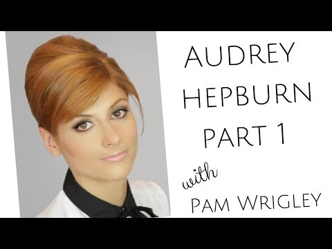part-1-learn-audrey-hepburn/french-pleat-vintage-bridal-hairstyle---mother-of-the-bride-hairstyle