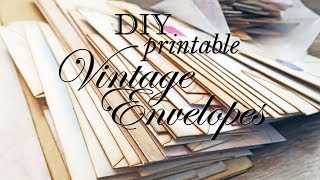 DIY Printable Vintage Envelopes  + New Stuff + Announcement