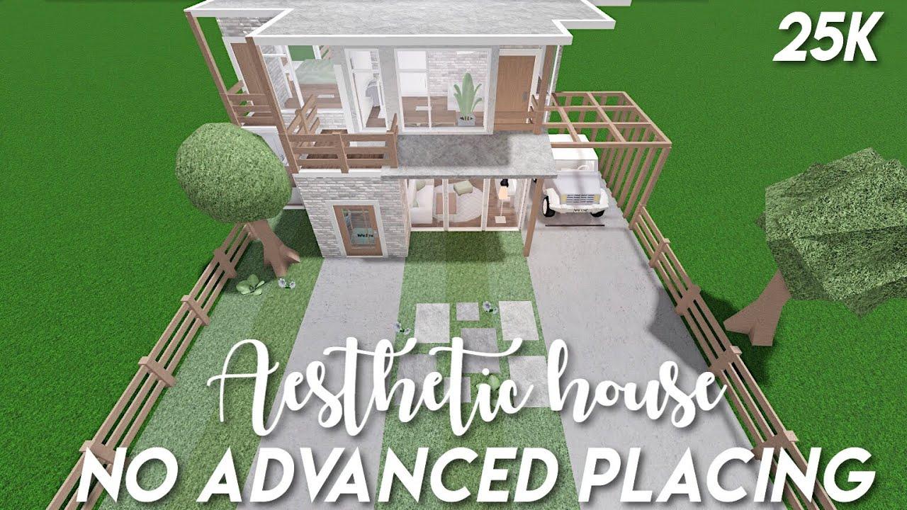 25k No Advanced Placing Aesthetic House Bloxburg Speedbuild