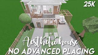 25k no advanced placing aesthetic house - Bloxburg speedbuild