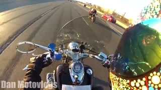 TWO RIDERS MEET | CBR 600RR Vs 650cc VSTAR RAW (Cruiser vs. Sportbike) Highway Hooliganism