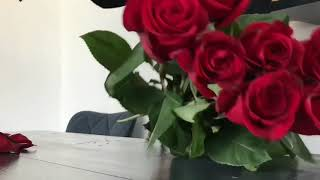 How to made bouquet of red roses