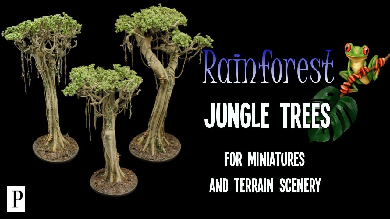 How To Make Rainforest Jungle Trees For Miniature Terrain Scenery