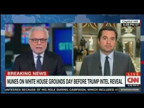 Intel Chair Devin Nunes answerings questions from CNN Wolf Blitzer on recent intelligence and how he