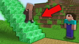 Minecraft NOOB vs PRO:WHERE DOES THIS RAREST EMERALD STAIRS LEAD IN VILLAGE! Challenge 100% trolling