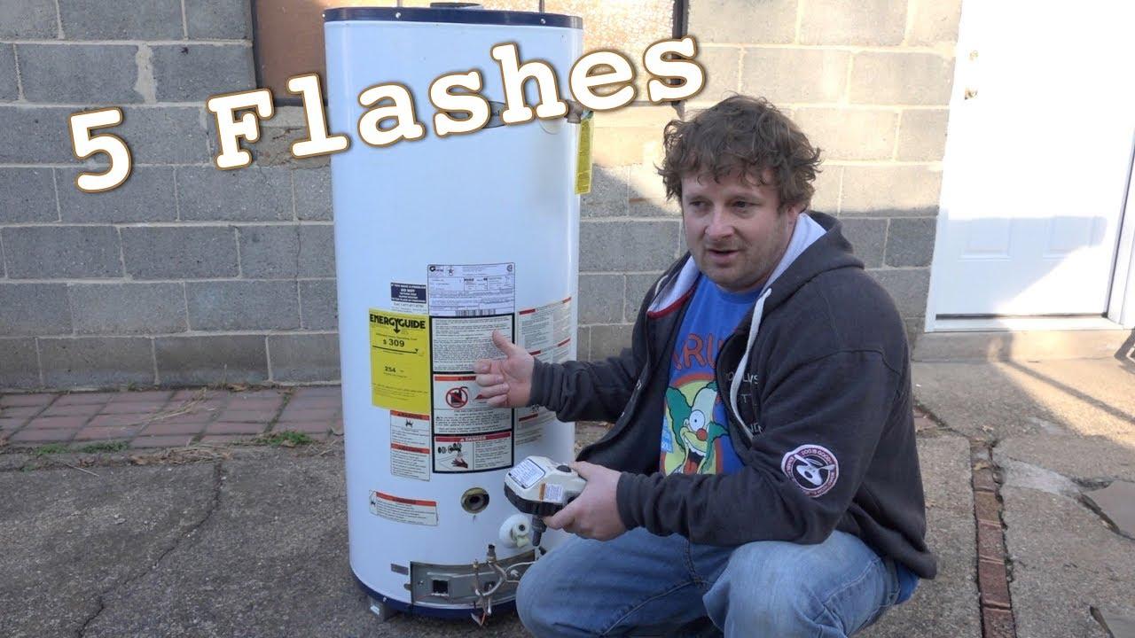 Honeywell Gas Valve Code 5 Whirlpool Water Heater Youtube