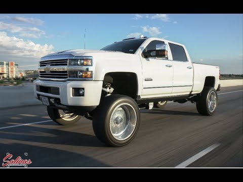 Chevy 3500 High Country lifted 9 inches with 24x12 ...