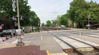 Outbound Doubleheaded Metra 190 And 212 Express Passing Riverside IL