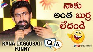 Rana Daggubati Makes FUN of Himself   Rana No.1 Yaari Season 2 Press Meet   Telugu FilmNagar