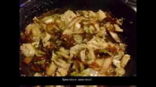 Рецепт салата  Теплый салат из пекинской капусты с шампиньонами