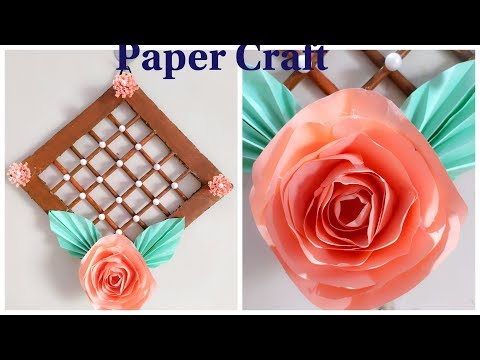 DIY.. paper craft | wall hanging | beautiful idea for home decor ||