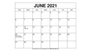 Printable June 2021 Calendar Templates with Holidays - Wiki Calendar screenshot 2