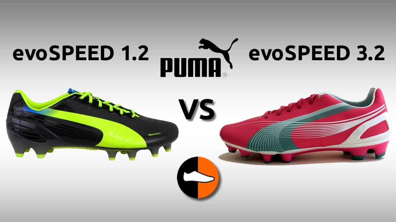 What are the differences between the Puma evoSPEED 1.2   3.2  Football Boots d1817a358a