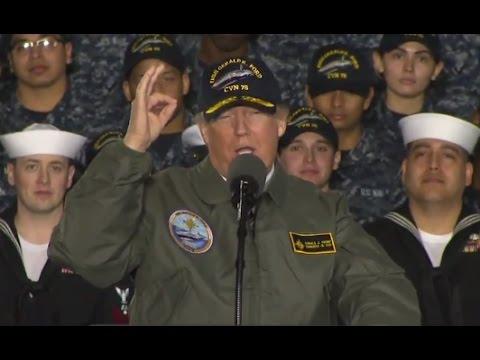 Trump Full Speech Aboard USS Gerald R. Ford Aircraft Carrier | ABC News