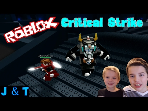 Roblox Critical Strike - Battling a Hacker /Jake and Ty