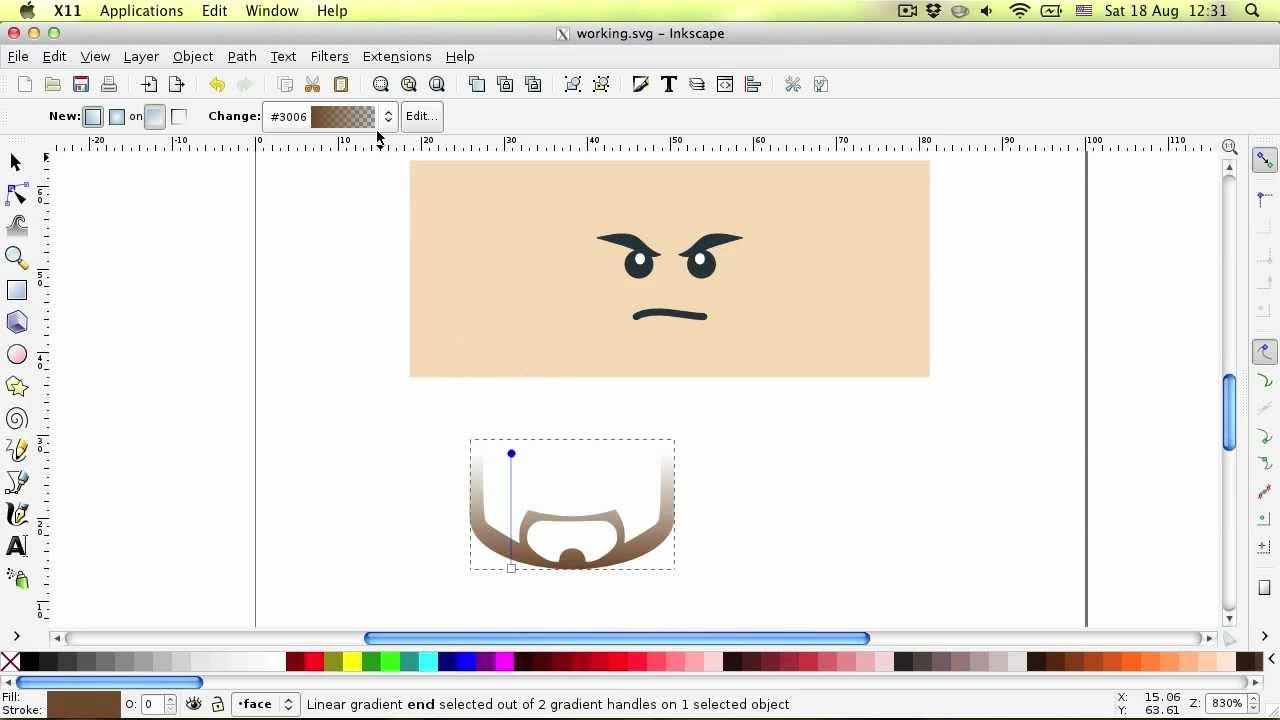 baiscs of creating face stubble using inkscape youtube