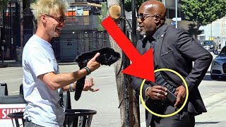 ANGRY SECURITY GUARD PRANKED WITH MAGIC!!! - I GOT BUSTED!