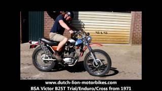 bsa victor b25t trial enduro cross from 1971