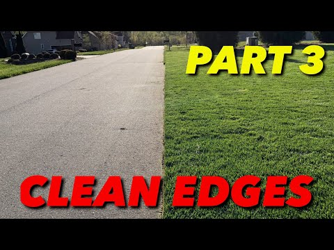 How To Have Clean Edges In A Lawn - PART 3
